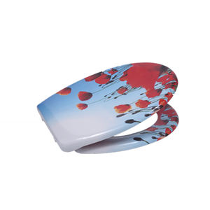 Hot Sale UF Printed Luxury Universal Fancy Toilet Seat For Sanitary
