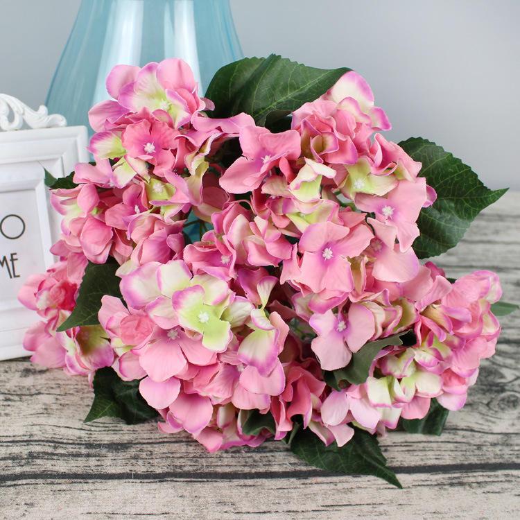 Artifical Flower Bouquets Silk Flower For Wedding Decoration 7 Heads Spring Artificial Hydrangea Flower Head