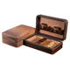 1pc Cedar Tray Zipper Cigar Case Brown Leather with Cigar Accessories