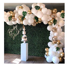 White Gold Confetti Balloon Garland Kit for Parties, Party Wedding Birthday Balloons Decorations