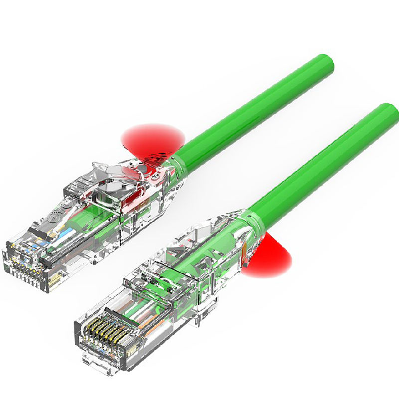 Traceable Patch Cord For Data centre and Telecom Room CAT.6A SSTP patch cable rj46 ethernet cable