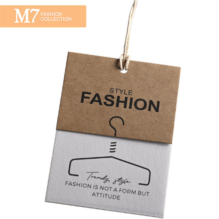 DP086 Fashion Custom Design Paper Clothing Price Tags For Clothes Wholesale Label Clothing Hang Tag