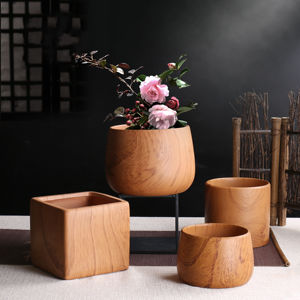 Nordic style succulent flowerpot medium round ball porcelain small pot plant wood grain ceramic flower pot