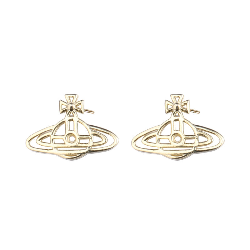 Damila custom earring Jewelry 925 silver saturn gold plated studs earrings for womens