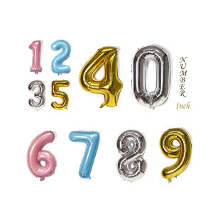 40Inch Gold Silver Large Numbers Balloons 0-9 Foil Mylar Big Number Balloons for Birthday Party Anniversary Supplies Decorations