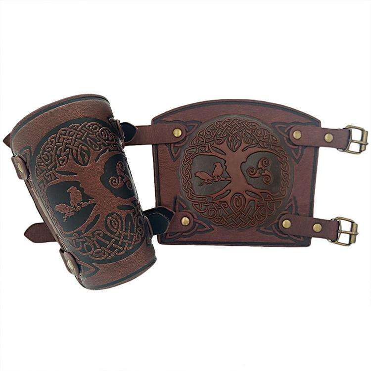 Archery Arm Guard Forearm Guards Adjustable Bow Arm Protector Traditional medieval sleeve wristband and youth wrist protection