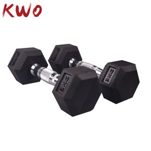 Professional Fitness Exercise Body Building Gym Training Equipment Cast Iron Weightlifting Rubber Coated Hex 10kg Dumbbell SetS