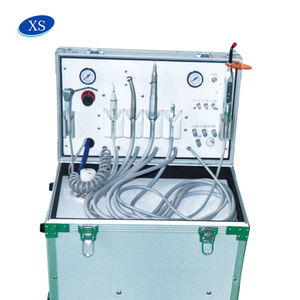 Mobile type portable dental unit with air compressor