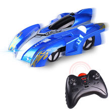 2019 New Arrival Gravity Defying Wall Climbing Car With LED Toy Remote Control Racing Car Wall Car For Christmas Gift