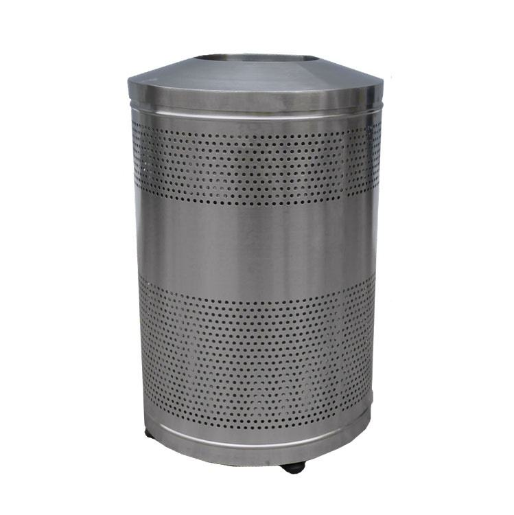 advertising 60l stainless steel recycle bin trash bin