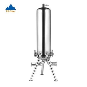 TS Filter Supply Sanitary Stainless Steel 5 Micron Active Carbon Cartridge Liquid Filter Housing for Vodka Filtration System