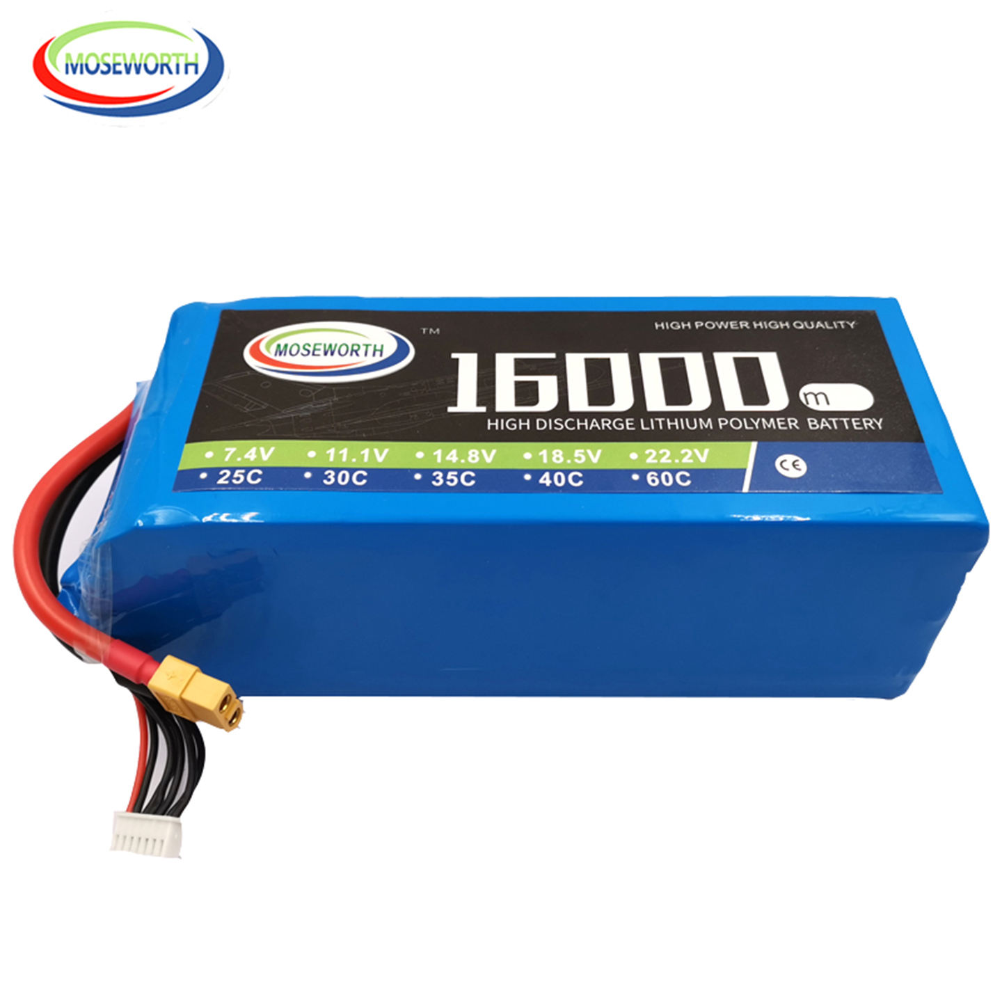 MOSEWORTH diamond 5S 16000mAh 18.5V 35C 40C Lipo Battery for Multicopter, Helicopter and UAV