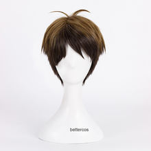 Haikyuu!! Wigs Volleyball Wakatoshi Ushijima Wig Short Camel Ombre Heat Resistant Cosplay Synthetic Hair Cosplay Wig