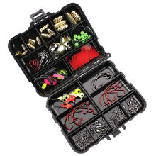 128Pcs/Set Carp Freshwater Saltwater Fishing Tackle  Kit Combo Box Hooks Swivels Spinners Fishing Accessories Set
