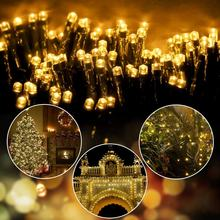 Newish Custom Sale 100 Bulbs 12M Bulk Holiday Twinkly Outdoor Tree Decoration Solar String Chain Rice Night Led Christmas Lights