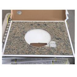 Santa Cecilia oval sink hole granite vanity top for bathroom