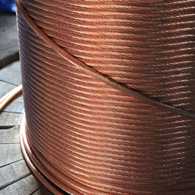 HUA DIAN 2020 High Tensile copper weld ccs wire copper clad steel grade AAA stranded wire bare copper earth wire for grounding