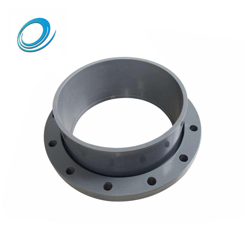 PVC pipe fittings flange lap joint socket flange for water supply system