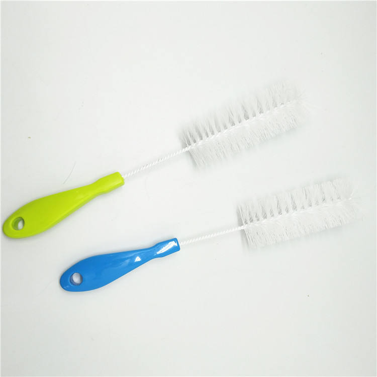 Plastic water cup cleaning brush mall brush for cleaning wine bottles milk bottle brush