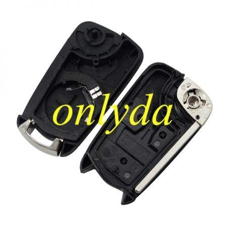 For Opel 2 button remote key blank with HU100 blade car key remote duplicator car key remote control and receiver