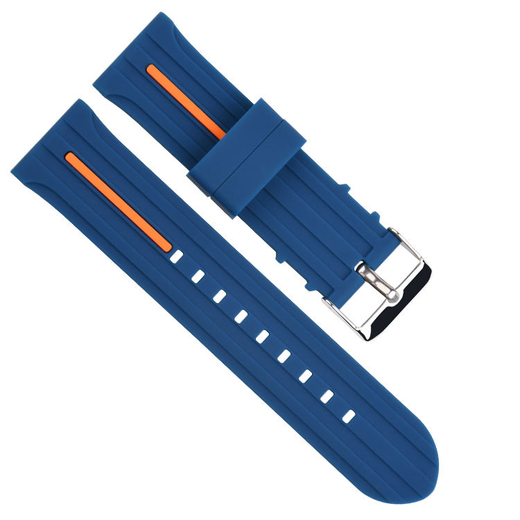 Double color 2 pieces silicon watch wristbands