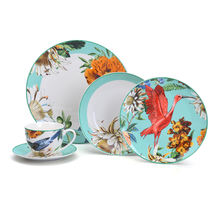 New arrived floral decal Dubai porcelain luxurious dinner set tableware
