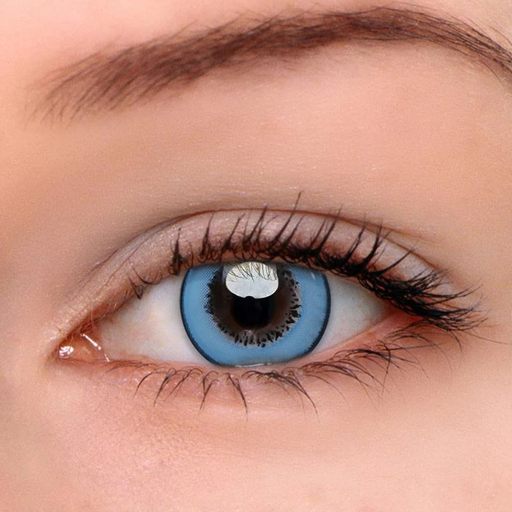yearly natural doll eyes contact lenses colored rainbow contact lens private label soft eye lenses