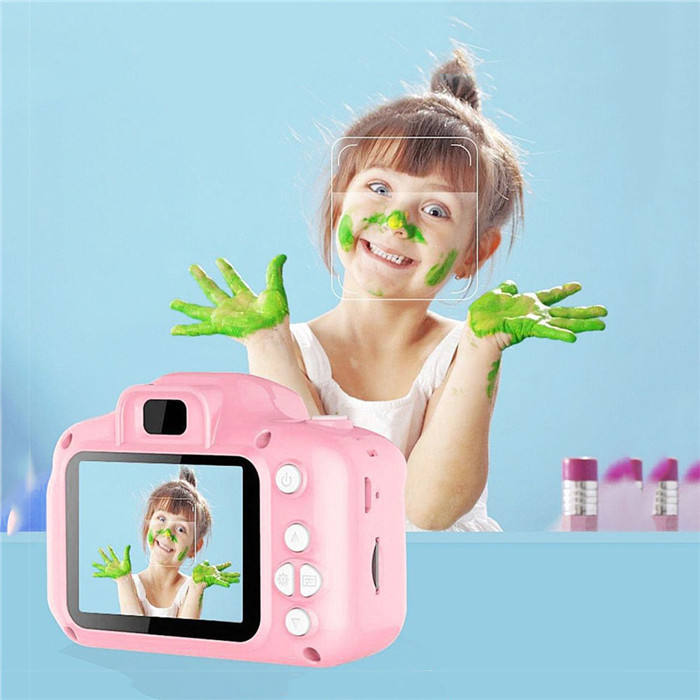 Amazon hot selling 2 inch HD screen chargeable mini digital kids video camera with photos and videos functions