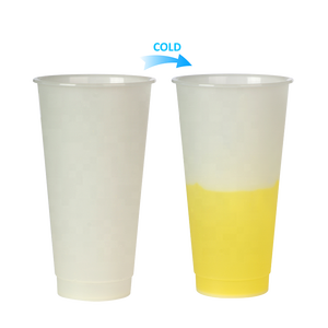 Customize cold change color plastic drinking cup clear color changing cup