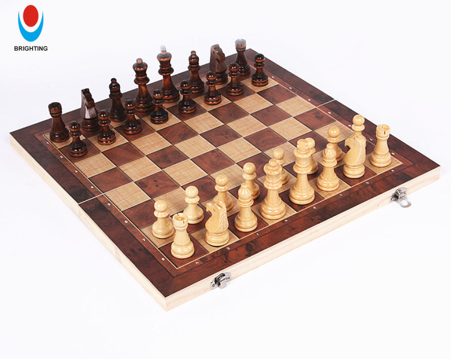 High Quality Wooden Folded International Chess Game Set and Backgammon, wooden chess, wooden checkers