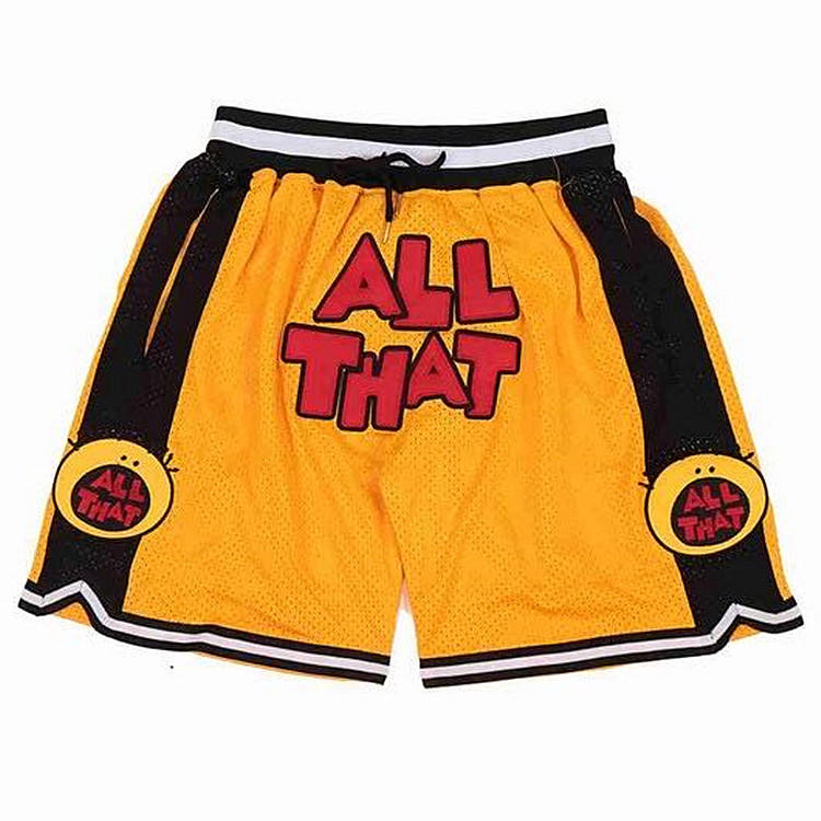 Drop shipping available just don custom logo retro stitched sport team shorts