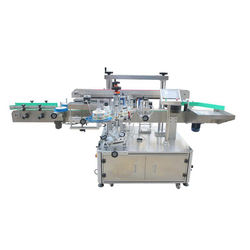 Single-sided or double-sided labeling machines for flat and square bottles
