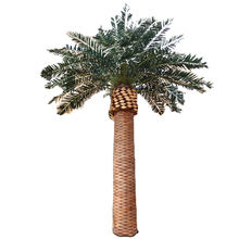 Palm artificial plants sale outdoor decor plastic fiberglass artificial palm trees