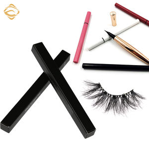 Custom glue lash adhesive pen clear brown white eyeliner pencil match full mink strips