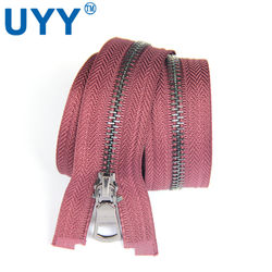 UYY Highly Polished #5 Brass Metal Zipper c/e Zip for Jacket