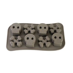 Microwave Safe Skull Shape Halloween Silicone Mold For Chocolate