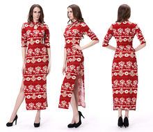 Women Open Leg Modern Chinese Traditional Sexy Cheongsam Dress