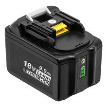 For Makitas Li-ion 18V 9000mAh replacement Rechargeable Power Tool Battery  BL1830 BL860 with LED indicator