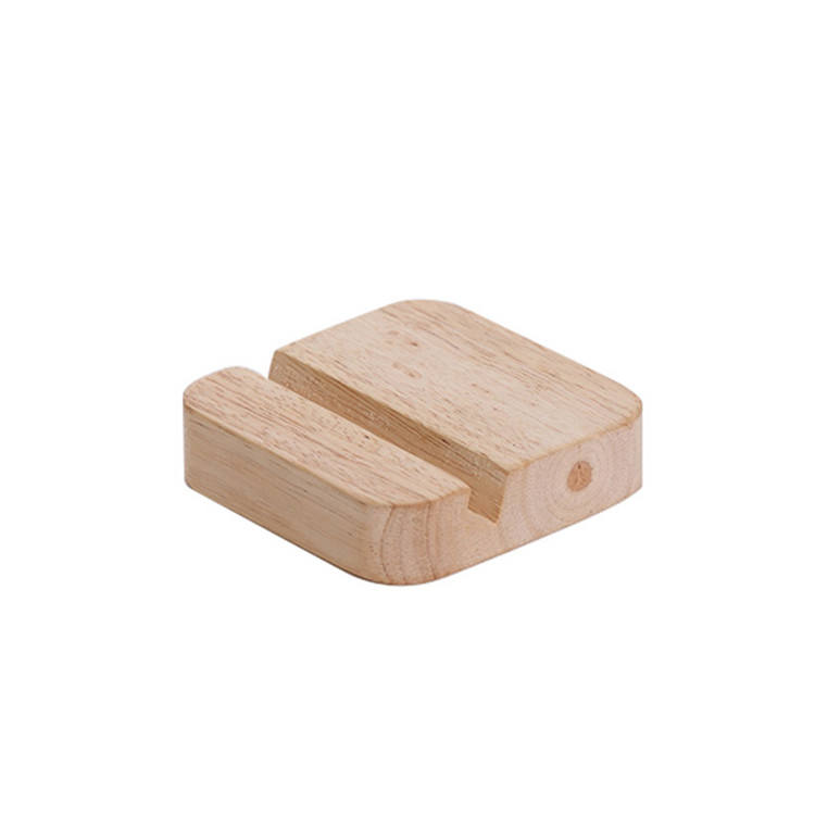 Factory direct supply solid beech wooden phone stand holder