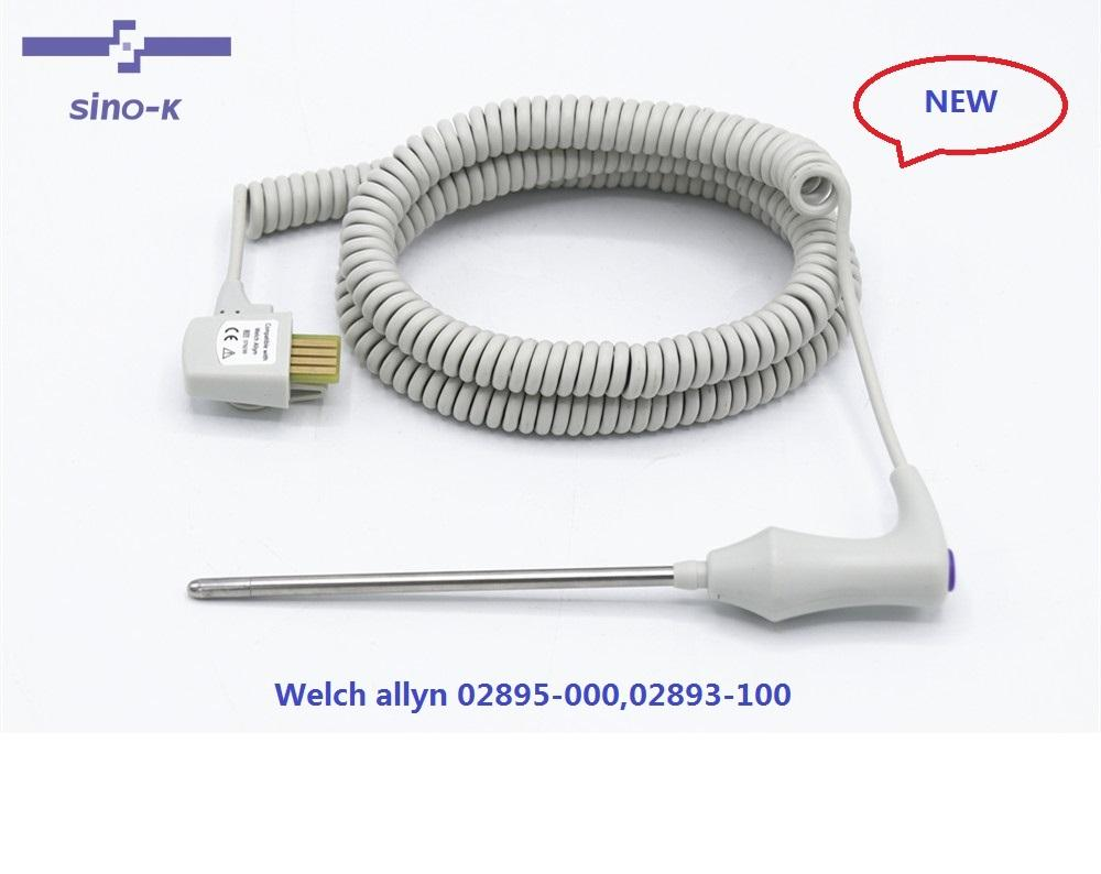 02895-000 /02893-100 ,4PIN, welch Allyn Orale Temperatuur Probe En Goed Vergadering 9 Ft Blauw, Voor Suretemp Plus 690/692