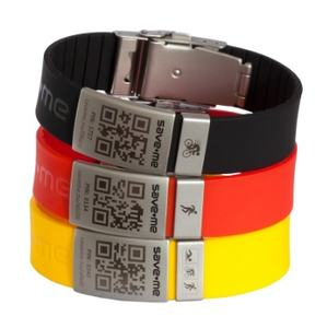 Free sample Wholesale Engrave stainless steel id band Custom logo color Adjustable Silicone ID Bracelets for sport Elite id