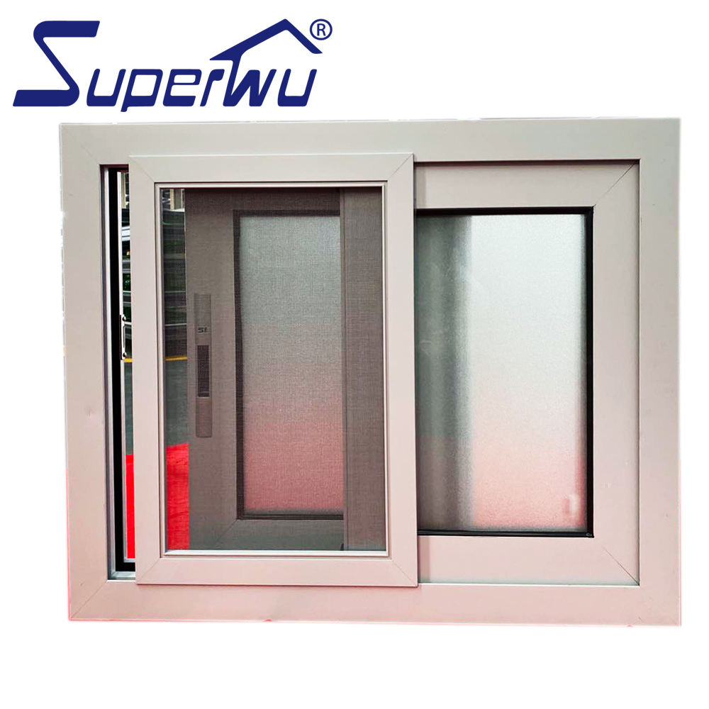 AS2047 NFRC CSA Aluminium Windows Double Glazing Sliding Window Doors / Plastic Track