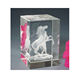 Wholesale Laser Engraving Horse 3D Crystal Cube K9 Crystal Supplies
