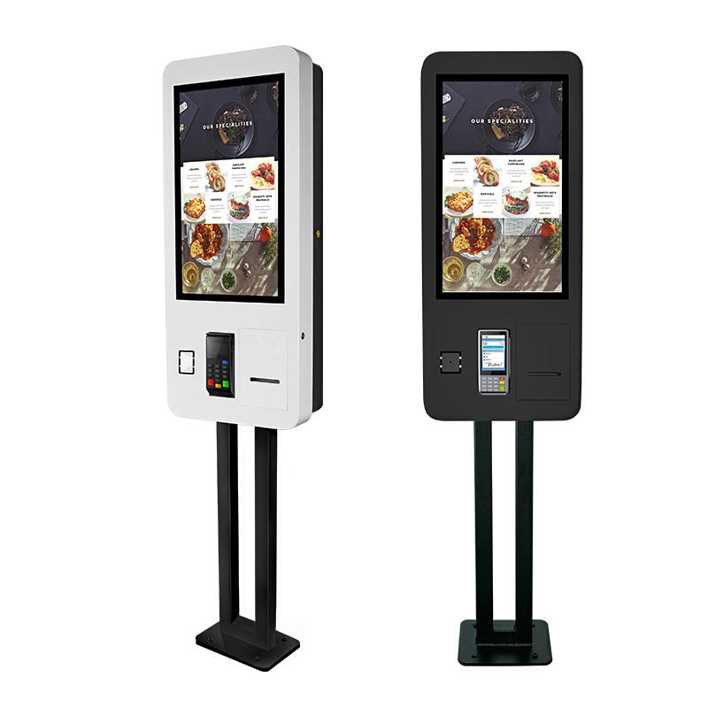 Fast Food Restaurant 24 27 32 Inch Touch Self Service Prepaid cashless Payment Ordering Kiosk/All In One check in kiosk