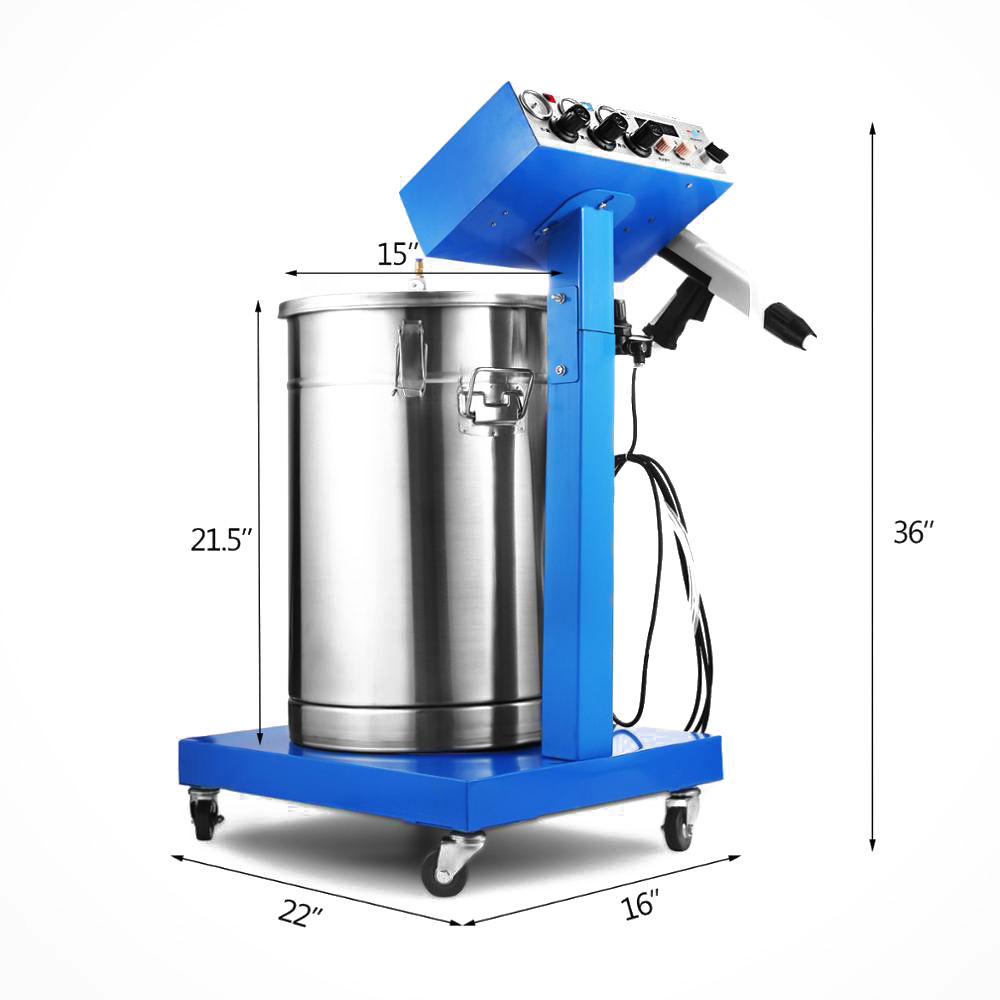 50W 45L Capacity Electrostatic Powder Coating Machine Spraying Gun Paint Spray Paint Machine 450g/min