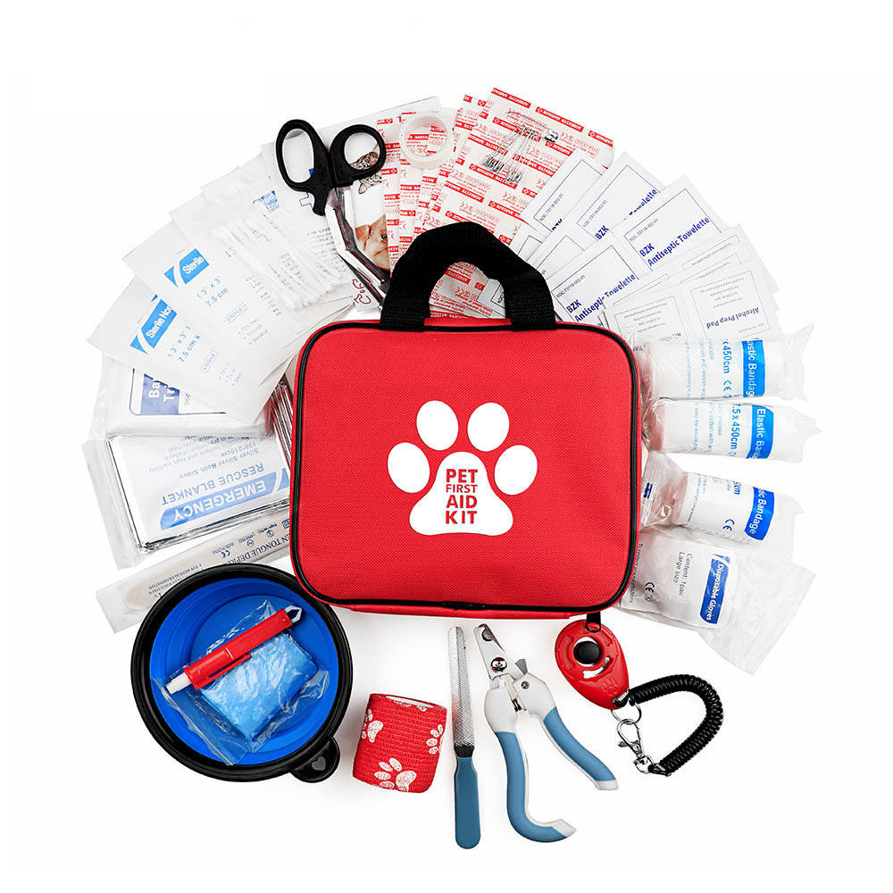 2021 Amazon Hot Selling Compact Pet First Aid Kit 78 Pieces For Dog Cat