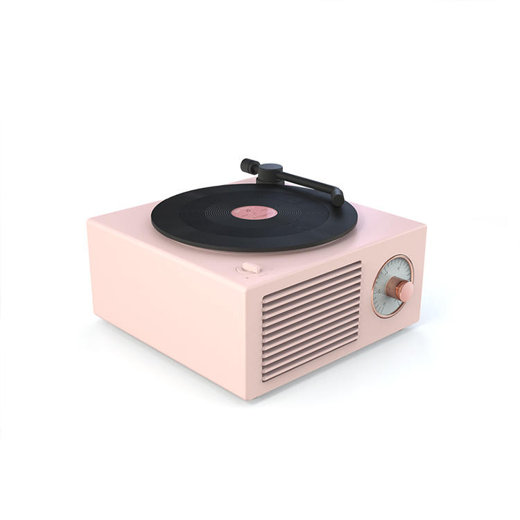Vintage Lautsprecher Desktop Wireless Creative tragbare multifunktion ale Mini-Lautsprecher Vintage Vinyl Record <span class=keywords><strong>Stereo</strong></span>