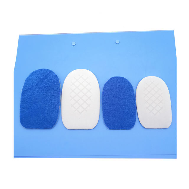Soft 100% Pure Silicone GEL Velvet Half Height Increasing Heel Pad Insole For Shoes Transparent Self-Adhesive Pads