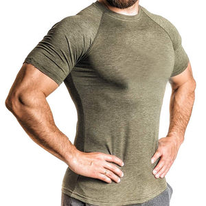 Wholesale High Quality Moisture Wicking Dry Fit Man Workout Compression Shirt
