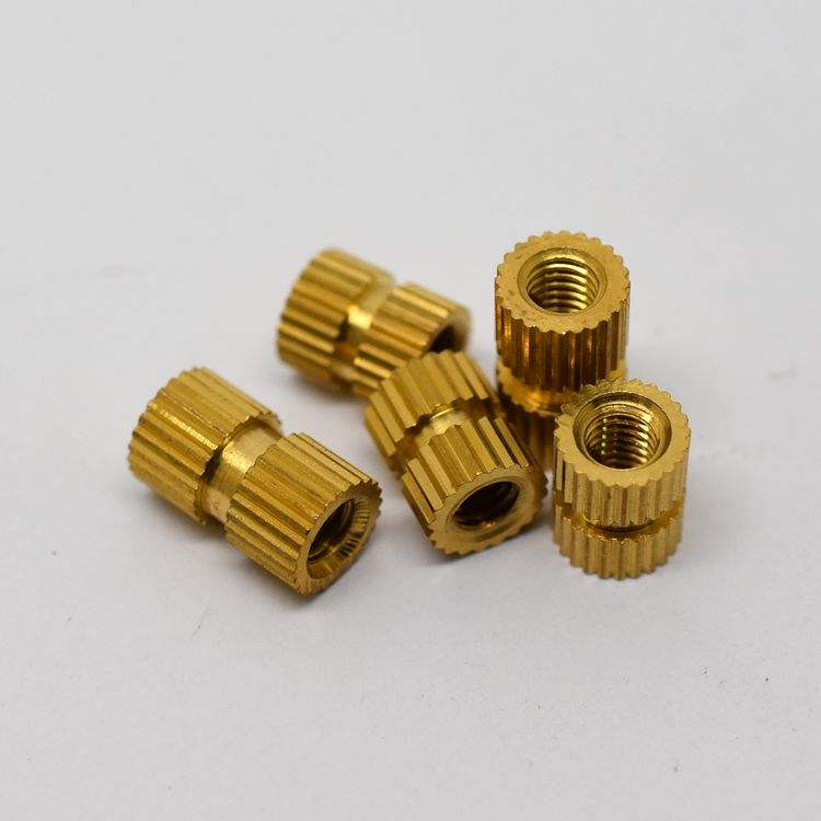 Insert Nuts For Plastics Size Precision Threaded Knurled Brass All M0.8-M12 1000PCS CN GUA JY-N-8 Metric Yellow
